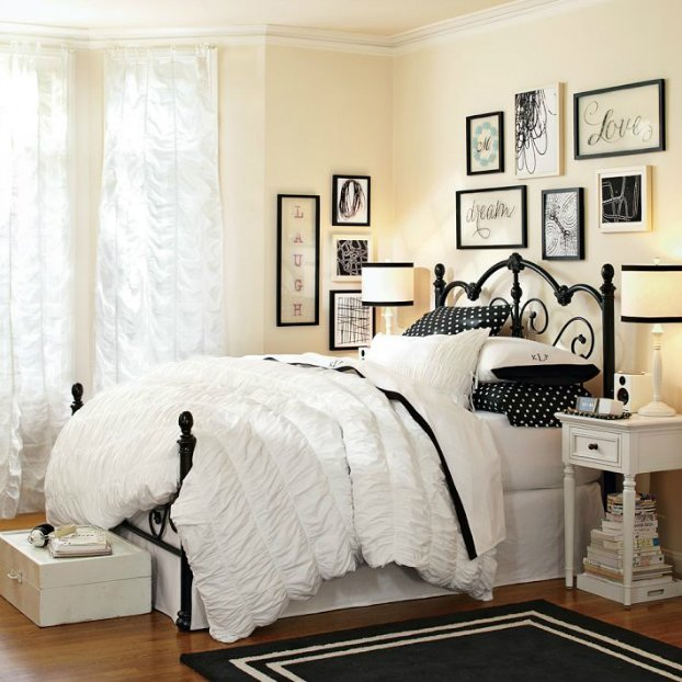 French Bedroom Black And White Teenage Bedroom Wallpaper Uk Wooden Bedroom Blinds Bedroom Oasis Decorating Ideas: 24 идеи за спални на тинейджърки