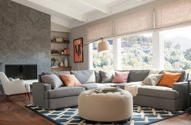 Grey And Brown Room Design